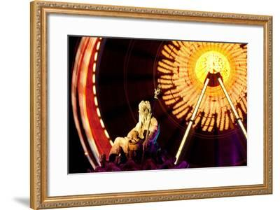 Germany, Berlin, Alexanderplatz, Ferris Wheel, Neptune Fountain-Catharina Lux-Framed Photographic Print