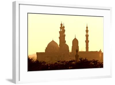 Egypt, Cairo, Mosque-Madrassa of Sultan Hassan in Backlight-Catharina Lux-Framed Photographic Print