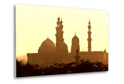 Egypt, Cairo, Mosque-Madrassa of Sultan Hassan in Backlight-Catharina Lux-Metal Print