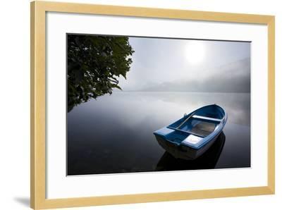 Scandinavia, Norway, Oppheimsvatnet Lake, Rowboat, Fog, Landscape-Rainer Mirau-Framed Photographic Print