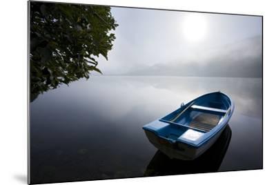 Scandinavia, Norway, Oppheimsvatnet Lake, Rowboat, Fog, Landscape-Rainer Mirau-Mounted Photographic Print