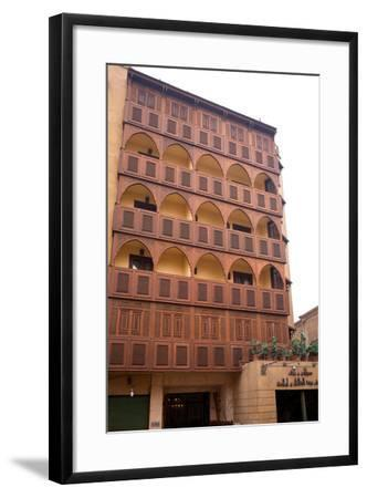Egypt, Cairo, Islamic Old Town, Hotel Riad, Wooden Facade-Catharina Lux-Framed Photographic Print