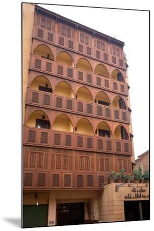 Egypt, Cairo, Islamic Old Town, Hotel Riad, Wooden Facade-Catharina Lux-Mounted Photographic Print