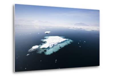 Norway, Storfjord, Drift Ice-Frank Lukasseck-Metal Print