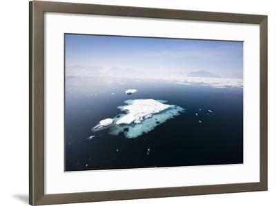 Norway, Storfjord, Drift Ice-Frank Lukasseck-Framed Photographic Print