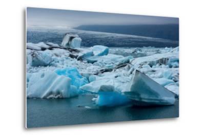 Jškulsarlon, Glacier Lagoon-Catharina Lux-Metal Print