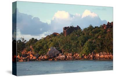 The Seychelles, La Digue, Pointe Cap Barbi-Catharina Lux-Stretched Canvas Print