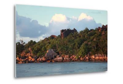 The Seychelles, La Digue, Pointe Cap Barbi-Catharina Lux-Metal Print