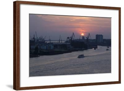 Hamburg, Norderelbe, Sunset-Catharina Lux-Framed Photographic Print