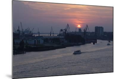 Hamburg, Norderelbe, Sunset-Catharina Lux-Mounted Photographic Print