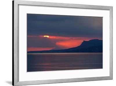 Greece, Crete, Libyan Sea, Sunset-Catharina Lux-Framed Photographic Print