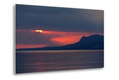 Greece, Crete, Libyan Sea, Sunset-Catharina Lux-Metal Print
