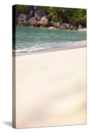 Dream Beach, Indian Ocean, Seychelles, Sand, Water, Granite Rocks-Harry Marx-Stretched Canvas Print