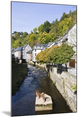 Germany, North Rhine-Westphalia, Monschau, Rur, Half-Timbered Houses, Historical-Frank Lukasseck-Mounted Photographic Print