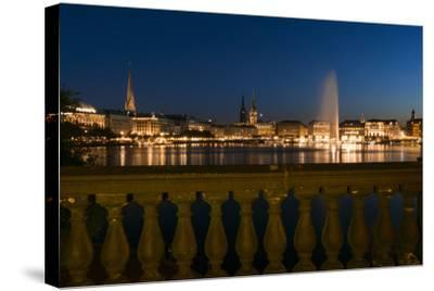 Hamburg, the Inner Alster, Dusk-Catharina Lux-Stretched Canvas Print