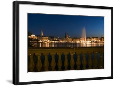 Hamburg, the Inner Alster, Dusk-Catharina Lux-Framed Photographic Print