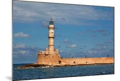Greece, Crete, Chania, Venetian Harbour, Lighthouse-Catharina Lux-Mounted Photographic Print