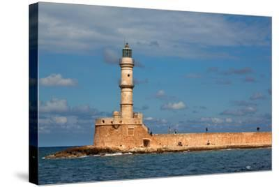 Greece, Crete, Chania, Venetian Harbour, Lighthouse-Catharina Lux-Stretched Canvas Print
