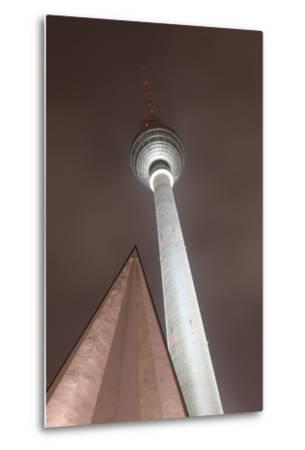 Germany, Berlin, Television Tower, Night, Winter-Catharina Lux-Metal Print