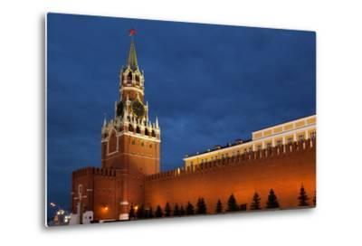 Moscow, Red Square, Redeemer Tower, at Night-Catharina Lux-Metal Print