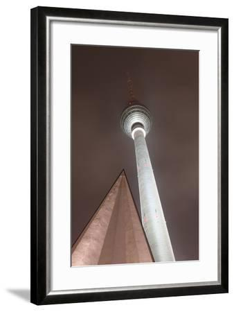 Germany, Berlin, Television Tower, Night, Winter-Catharina Lux-Framed Photographic Print