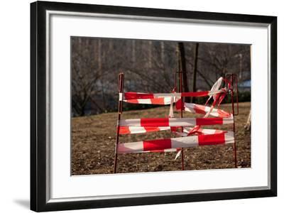 Berlin, Schlossplatz, Construction Site, Barrier-Catharina Lux-Framed Photographic Print