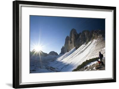 Italy, South-Tyrol, Sextener Dolomites, Three Peaks of Lavaredo, Mountain-Landscape-Rainer Mirau-Framed Photographic Print
