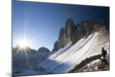 Italy, South-Tyrol, Sextener Dolomites, Three Peaks of Lavaredo, Mountain-Landscape-Rainer Mirau-Mounted Photographic Print