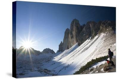 Italy, South-Tyrol, Sextener Dolomites, Three Peaks of Lavaredo, Mountain-Landscape-Rainer Mirau-Stretched Canvas Print