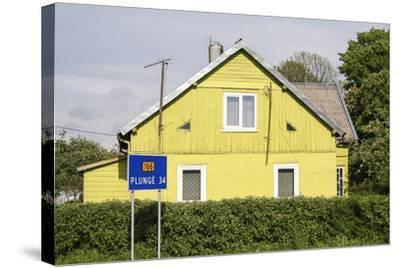 Lithuania, Siauliai, Wooden House Facade-Catharina Lux-Stretched Canvas Print