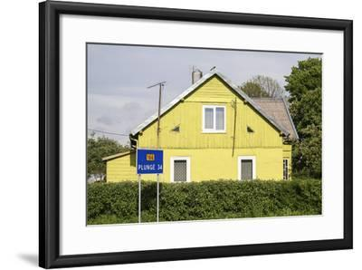Lithuania, Siauliai, Wooden House Facade-Catharina Lux-Framed Photographic Print