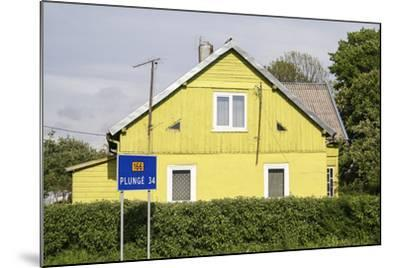 Lithuania, Siauliai, Wooden House Facade-Catharina Lux-Mounted Photographic Print