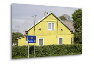 Lithuania, Siauliai, Wooden House Facade-Catharina Lux-Metal Print