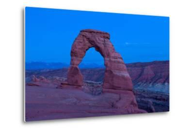 USA, Utah, Arches National Park, Delicate Arch, Dusk-Catharina Lux-Metal Print