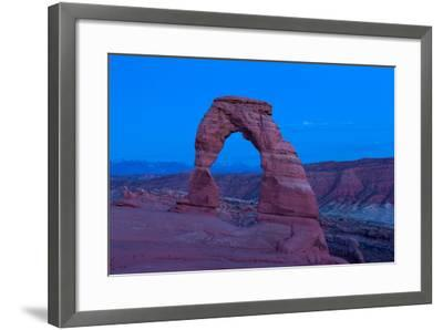 USA, Utah, Arches National Park, Delicate Arch, Dusk-Catharina Lux-Framed Photographic Print