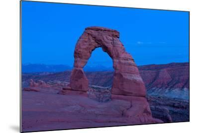 USA, Utah, Arches National Park, Delicate Arch, Dusk-Catharina Lux-Mounted Photographic Print