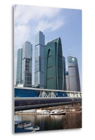 Moscow, Cityscape, Moscow City, Modern Architecture-Catharina Lux-Metal Print