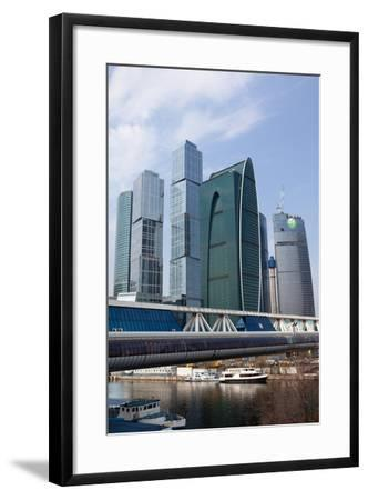 Moscow, Cityscape, Moscow City, Modern Architecture-Catharina Lux-Framed Photographic Print