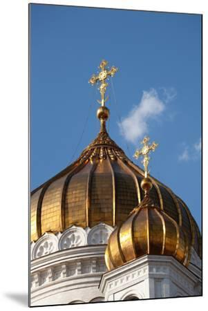 Moscow, Cathedral of Christ the Saviour, Detail, Golden Dome-Catharina Lux-Mounted Photographic Print