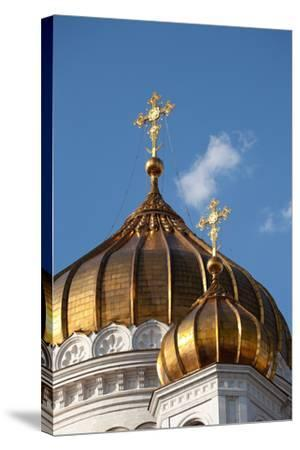 Moscow, Cathedral of Christ the Saviour, Detail, Golden Dome-Catharina Lux-Stretched Canvas Print