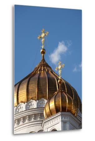 Moscow, Cathedral of Christ the Saviour, Detail, Golden Dome-Catharina Lux-Metal Print