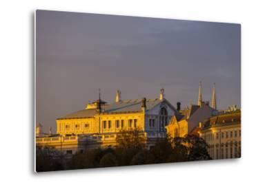 Europe, Austria, Vienna, Burgtheater, Back View-Gerhard Wild-Metal Print