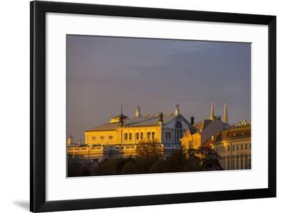 Europe, Austria, Vienna, Burgtheater, Back View-Gerhard Wild-Framed Photographic Print