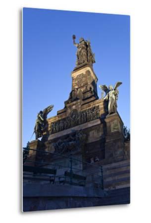 Germany, Hessen, Middle Rhine Valley, RŸdesheim, Niederwalddenkmal-Chris Seba-Metal Print