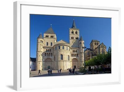Germany, Rhineland-Palatinate, the Moselle, Trier, Cathedral-Chris Seba-Framed Photographic Print