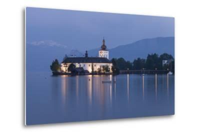 Schloss Orth, Traunsee, Gmunden, Salzkammergut, Upper Austria, Austria-Gerhard Wild-Metal Print