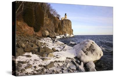 USA, Minnesota, Lake Superior, Lighthouse, Split Rock-Ronald Wittek-Stretched Canvas Print