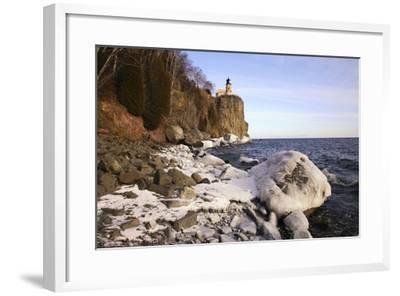 USA, Minnesota, Lake Superior, Lighthouse, Split Rock-Ronald Wittek-Framed Photographic Print