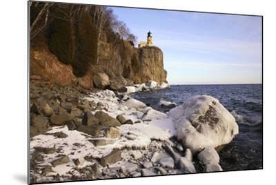 USA, Minnesota, Lake Superior, Lighthouse, Split Rock-Ronald Wittek-Mounted Photographic Print
