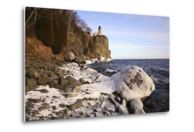 USA, Minnesota, Lake Superior, Lighthouse, Split Rock-Ronald Wittek-Metal Print